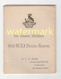 Royal Naval Division, Hood Battalion, Folding history card, 1917