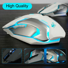 2.4G Optical LED Wireless X7 Mouse USB Rechargeable Backlit Computer Mice White