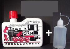 SR 24 Dampf- und Reinigungsöl  Modellbahnöl 225ml + 50ml Nadelflasche