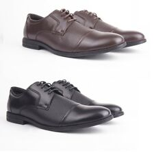 Mens Gents Real Leather Upper Smart Formal Lace Up Oxford Brogue Lace Up Shoes