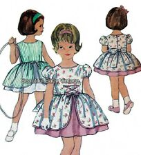 Vintage Girls Dress SEWING PATTERN 1950s Flower Girl Child Size 1 2 3 COPY