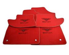Floor Mats For Bentley Continental GT Bentley Emblem Tailored Red Carpets Set