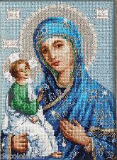 LUCA-S  BR114  Icône  Mère de Dieu de Jérusalem  Kit  Broderie point de croix