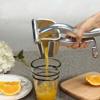 Commercial Pro Manual Citrus Fruit Lemon Hand Press Juicer Juice Squeezer Silver