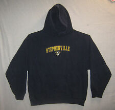 NAVY BLUE HOODIE w/ STEPHENVILLE LOGO-size LARGE