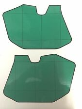KTM 125/250/350/500 1985-1986 Number Plate Side Panel Background Decals Green