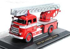 DAF A1600 Feuerwehr Leiterwagen rot-weiß 1962 1:43 Yat Ming Modellauto
