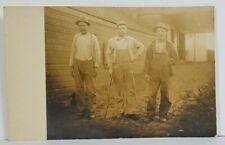 Rppc Men Laborers Farmers Real Photo c1907 Postcard 010