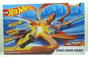 Hot Wheels Criss Cross Crash Motorized Track Set W/Car New Sealed Free Ship