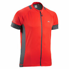 Red Cycling Casual T-Shirts and Tops