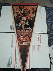 49ers Jerry Rice #80 Mudge Pennant All Time Touchdown Leader Rare Vintage