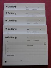 5 STÜCK QUITTUNGSBLOCK je 100 BLATT einfache Quittungen, gelocht,Quittungsblöcke
