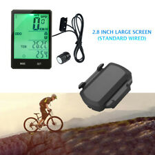 """Bicycle ANT+Cycling GPS Computer Cadence&Speed Sensor+2.8""""Screen Speedometer Set"""