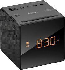 Sony ICF-C1 Black Cube FM/AM Analogue Tuner Radio Alarm Clock