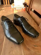 Mens Prada Black Real Genuine Leather Oxford Shoes Size 8 Oxfords Work Office