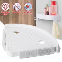 Corner Storage Rack Holder Shelves Bathroom Punch-free Corner Snap Up Shelf USA