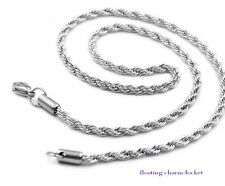 1pc 50cm length Sliver stainless steel Necklace Chain Fit DIY Floating locket
