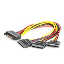 SATA Strom Adapter Kabel Verteiler Splitter Stecker auf 3x Buchse Buchsen 1 -> 3