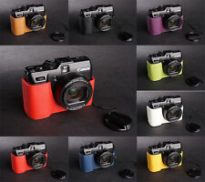 Handmade Real Leather Half Camera Case Camera bag for Canon G1X 8 Colors