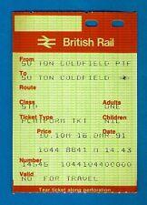 Platform Ticket ~ BR(M) PORTIS Issue - Sutton Coldfield - 1991