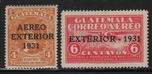 Guatemala 1931 Airmail Overprints set Sc# C13-14 NH