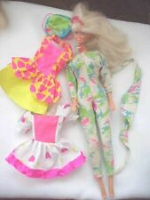 Barbie Mattel Sweetheart Heart Necklace Three Outfits Head 1976 Body 1966 Used