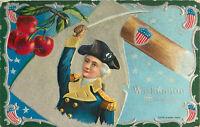 Postcard Washington, His Bravery, Embossed Circa 1909