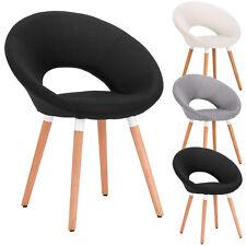 1X Chaise de salle à manger en lin Fauteuil de salon design rétro f244