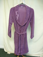 Ladies Dressing Gown Damart purple soft fleece, size M, wrap & tie belt, 2434