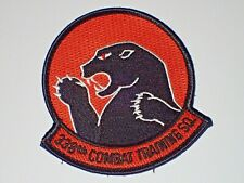 Air Force USAF 338th Combat Training Sq Flight Suit Jacket Patch Hook & Loop Min