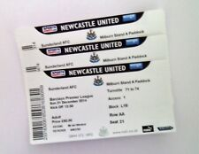 RARE MEMORABILIA Newcastle United v Sunderland Tickets / Ticket Stub(s) 21/12/14
