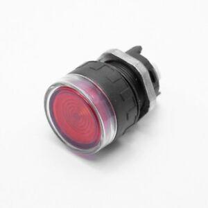 Pulsante rasato luminoso ROSSO d. 22mm - ERL2