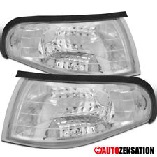 For 94-98 Ford Mustang Clear Corner Lights Parking Turn Signal Lamps Pair
