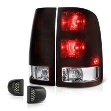07-13 GMC Sierra DARK SMOKE RED Brake Tail Lamp LED License Plate Light Assembly
