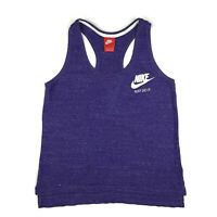 Nike Crop Tank Top womens S Purple Logo Racerback Oversized Boxy Muscle Shirt