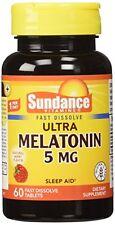 4 Pack Sundance 5mg Melatonin Tablets 60 Count Each