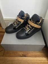 Giuseppe Zanotti high top Noir Baskets Taille 7.5uk/41.5 100% Authentique Boxed