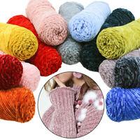 100g Soft Cashmere Yarn Crochet Scarf Line Knitting Yarn Gold Velvet Sweater
