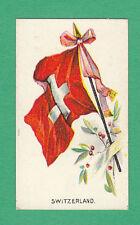 R.  &  J.  HILL  LTD. - RARE MILITARY CARD - FLAGS  - SWITZERLAND - 1901