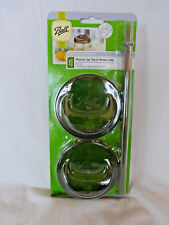 One Piece Ball Sip Lid 2 and Straw 1 Wide Mouth Size NEW