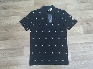 Adidas Men's Polo Shirt Size XS Black 100% Authentic (724)