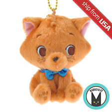 Japan Disney Store Toulouse Plush Keychain Sitting Cat The Aristocats Mascot NEW