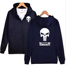 The Punisher Skull Men Women Hoodie Zipper Coat Jacket Sweater Casual Sweatshirt