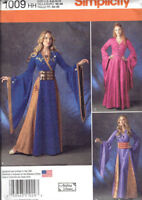 Medieval Gown Cosplay Costume Misses Size 14-22 Simplicity 1009 Sewing Pattern