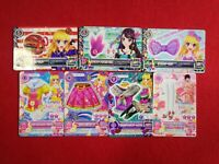 MIXED LOT  7 CARD AIKATSU JAPANESE PROMO CARDS USED CONDITION #1552