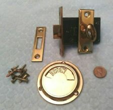 New listing Lavatory Bathroom Privacy Lock w/ Indicator Bommer Nos