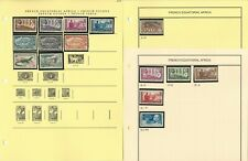 French Colonies Stamp Collection on 15 Pages, JFZ