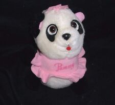 "5"" VINTAGE 1981 PAMMY SHIRT TALES PANDA TEDDY BEAR STUFFED ANIMAL PLUSH TOY DOLL"