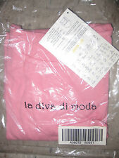 NEW WITH TAGS La Diva Di Moda by BellaC- Diva Blouse Top Shirt S- M 8 10 12 Pink