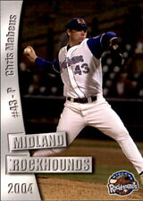 2004 Midland Rockhounds Grandstand #15 Chris Mabeus Peoria Illinois IL Card